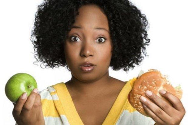 black-women-choosing between food