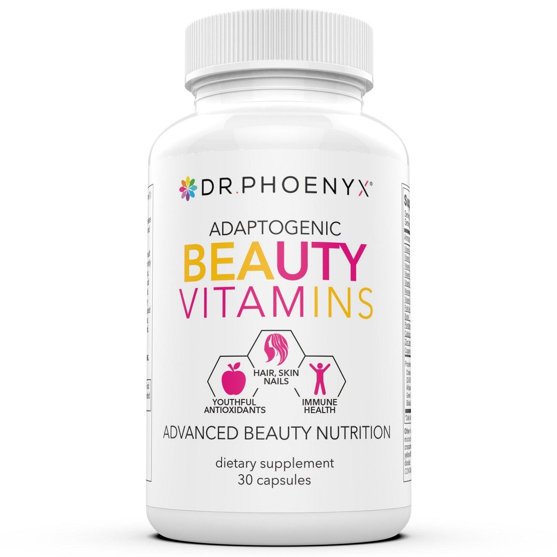 Adaptogenic Beauty Vitamins Hair, Skin Nails | Dr. Phoenyx