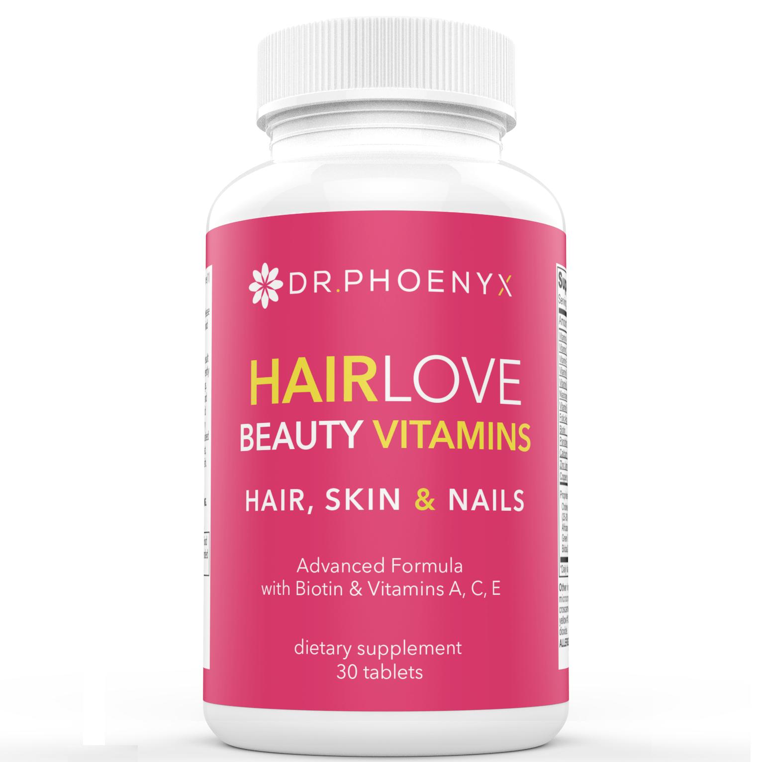 HairLove Healthy Hair, Skin and Nails Vitamins | Dr. Phoenyx
