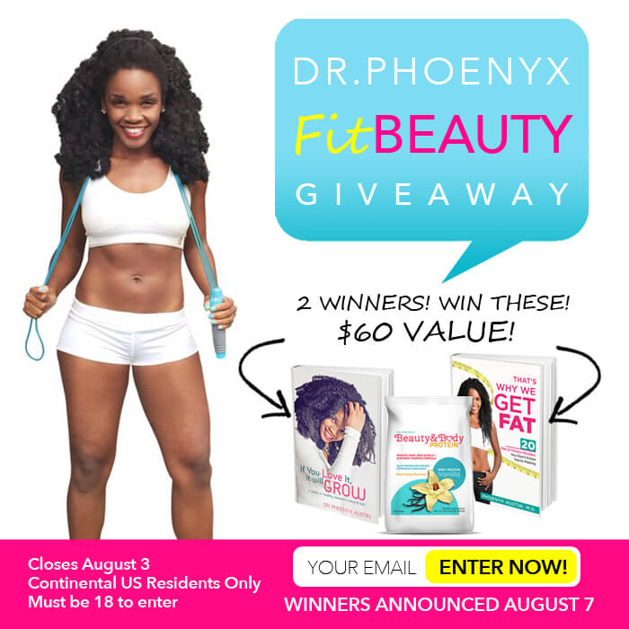Dr. Phoenyx FitBeauty Giveaway Flyer