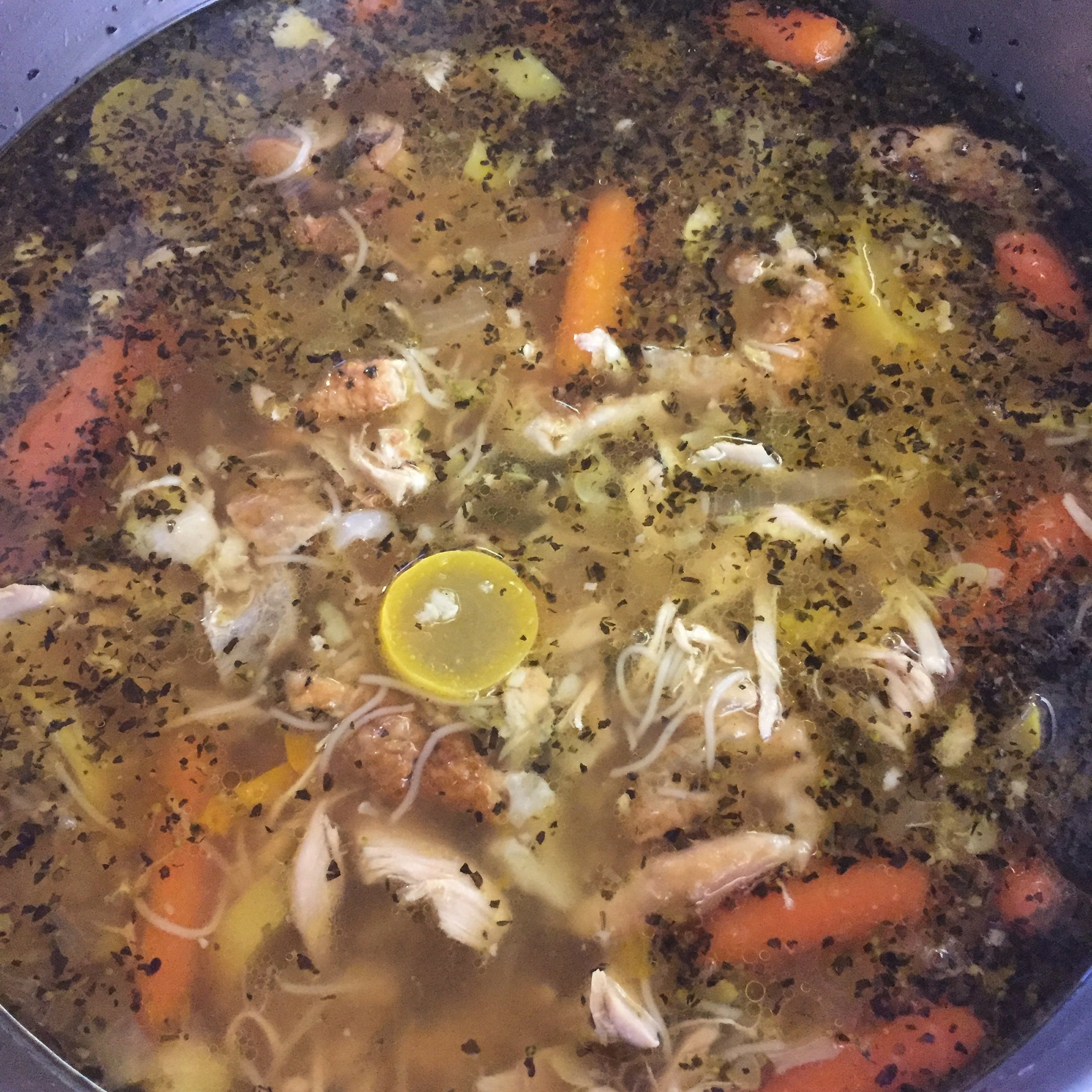 slow cooked chicken vegetable soup